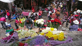 Blumen, Chichicastenango, Guatemala Stockfotos