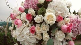 Blumen-Dekoration Ikebanas stock video footage