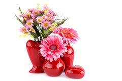 Blumen in den Vasen Lizenzfreie Stockfotos