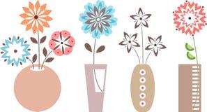 Blumen in den Vasen Lizenzfreies Stockfoto