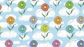 Blumen in den Wolken stock video