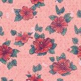 Blumen der Hibiscuse. Polkapunkt Lizenzfreie Stockfotografie