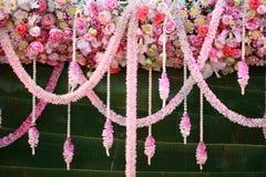 Blumen, die Dekor wedding sind Lizenzfreie Stockfotografie