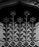 Blumen durch die Tür 2 Stockbild