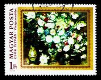 Blumen, durch Istvan Csok, Malereien - Blumen serie, circa 1977 Stockfotografie