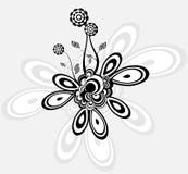Blumen - ein geometrischer abstrakter Hintergrund Stockbild