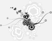Blumen - ein geometrischer abstrakter Hintergrund Lizenzfreie Stockbilder