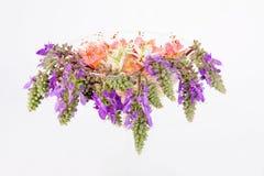 Blumen in einem Glasvase Lizenzfreies Stockbild