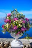 Blumen in einem großen Vase Stockfotografie