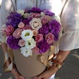 Blumen in einem Handwerkskasten Stockfotografie