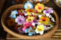 Blumen in einem Korb Stockfotos