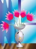 Blumen in einem Vase lizenzfreie abbildung