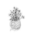 Blumen in einem Vase Lizenzfreie Stockfotografie