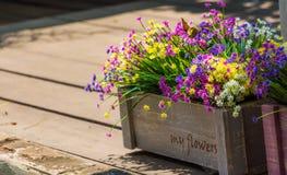 Blumen in einer Kiste Lizenzfreie Stockfotos