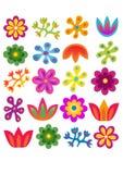 Blumen eingestellt Stockfotografie