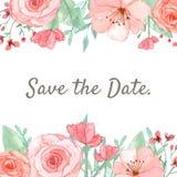 Blumen-Einladungs-Karte Lizenzfreies Stockbild