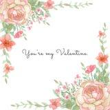 Blumen-Einladungs-Karte Stockfoto