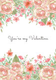 Blumen-Einladungs-Karte Stockfotos