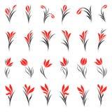 Blumen. Elemente für Auslegung. Lizenzfreie Stockbilder