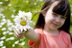 Blumen für Vater Stockbild