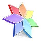 Blumen-Farben-Rad 3D Lizenzfreie Stockfotos