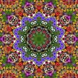 Blumen-Foto-Steppdecke Stockfotos