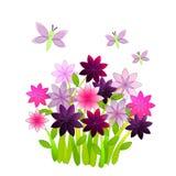 Blumen-Garten Stockfoto
