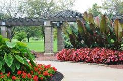 Blumen-Garten, Eichelman-Park, Kenosha, Wisconsin Lizenzfreies Stockbild