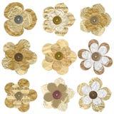 Blumen gebildet vom alten Papier getrennt auf Weiß. Lizenzfreie Stockfotografie