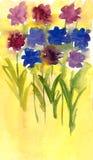 Blumen gemalt im Aquarell vektor abbildung