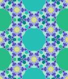 Blumen-geometrisches nahtloses Muster Lizenzfreie Stockfotografie