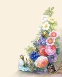 Blumen-Girlande lizenzfreie abbildung
