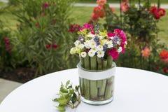Blumen in glas Lizenzfreie Stockbilder