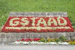 Blumen in Gstaad, die Schweiz Stockfotos