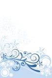 Blumen-Hintergrund-Blau-Verzierung Lizenzfreie Stockbilder