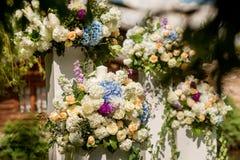 Blumen-Hochzeits-Dekor Lizenzfreie Stockfotografie