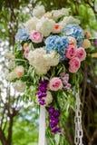Blumen-Hochzeits-Dekor Stockfotografie