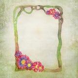 Blumen-Illustrations-Hintergrund Lizenzfreies Stockfoto
