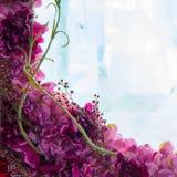 Blumen im Eis Lizenzfreie Stockfotos