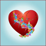 Blumen im Herzen Stockbilder