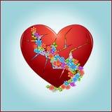 Blumen im Herzen stock abbildung