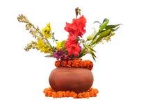 Blumen im Potenziometer Lizenzfreie Stockfotos