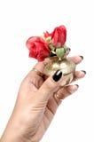 Blumen im Potenziometer Lizenzfreie Stockbilder