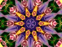 Blumen-Kaleidoskop-Muster Lizenzfreies Stockbild