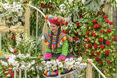 Blumen-Karneval in Nizza, Frankreich Lizenzfreies Stockfoto