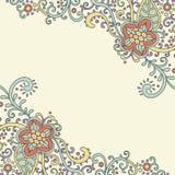 Blumen-Karte Lizenzfreies Stockbild
