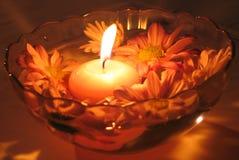 Blumen-Kerzen Stockfoto