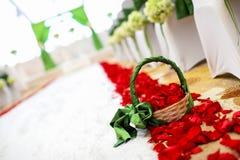 Blumen-Korb Lizenzfreie Stockbilder