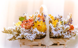 Blumen-Korb Stockbild