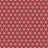 Blumen-Linie nahtloses Muster - rote und weiße Farben Lizenzfreies Stockbild